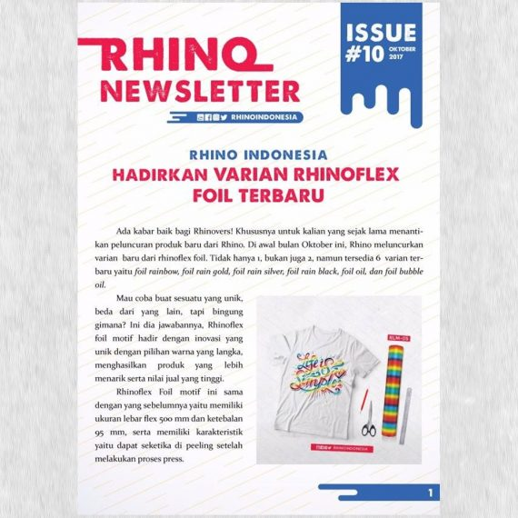 Rhino Indonesia Newsletter Oktober 2017 cover