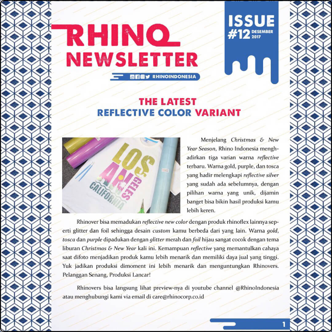 Rhino Indonesia Newsletter desember 2017